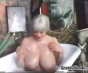 Busty Grandma In The..