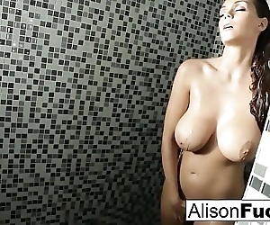 Alison showers and..